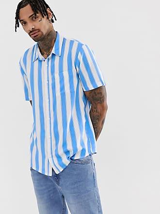 Another Influence Kortärmad randig skjorta - Vit a47f502db90b6