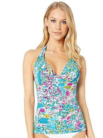 4390171a2d0b Lilly Pulitzer Bliss Halter Tankini Top (Multi Postcards from Positano)  Womens Swimwear