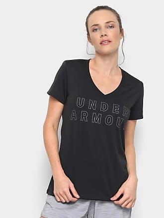 78b8cb19a2a Under Armour Camiseta Under Armour Tech Graphic Ssv Feminina - Preto+prata  - M
