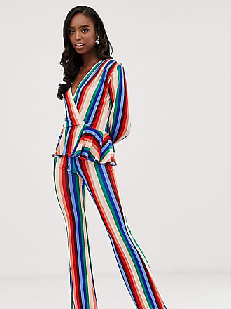 f1cfb8081d1 John Zack Tall wide leg pants in multi stripe - Multi
