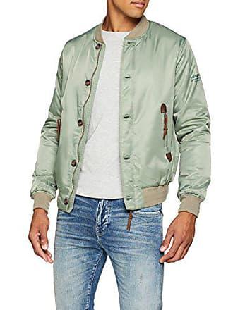 7667c45bd32 Pepe Jeans London Boundary Veste Bomber Homme Vert (Forest Khaki 771)  Medium (Taille