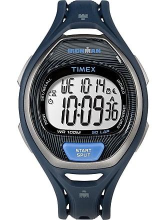 e72a40c53 Timex Watch Unisex Ironman Sleek 50 Full-Size Resin Strap Blue/digital Item  Tw5M17600Jv