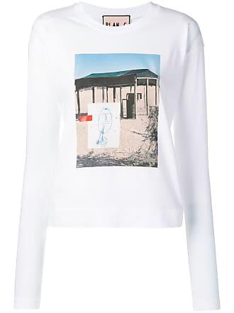 Plan C Camiseta com estampa de fotografia - Branco