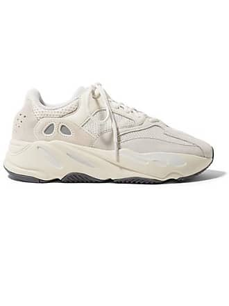 adidas Originals Yeezy Boost 700 Suede, Leather And Mesh Sneakers - Off-white
