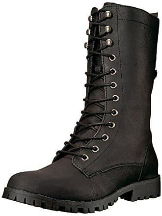 15e3d39867b3 SUGAR Womens Tegan Lace-Up Mid-Calf Combat Boot