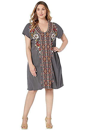 f22d4317955 Johnny Was Plus Size Beatriz Easy Knit Tunic Dress (Voltage) Womens Clothing