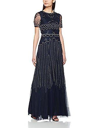 Frock and Frill Ariane sequin maxi dress, Robe de soirée Manches Courtes  Femme, Bleu 478a98ec5062