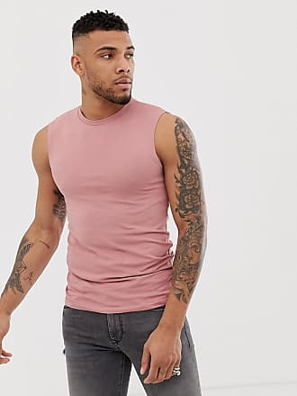 72457396be6320 Asos organic muscle fit tank vest in pink