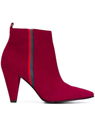 Kennel & Schmenger Ankle boot bico fino de couro - Vermelho