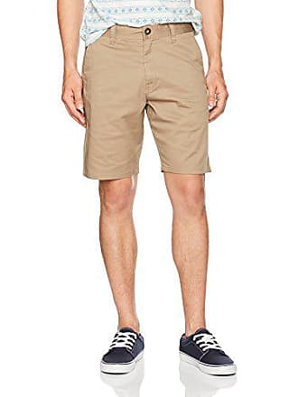 Volcom Mens Frickin Modern Stretch 19 Chino Short, Khaki, 36