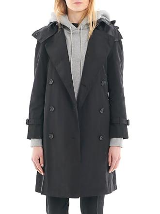 fdcea76a628 Burberry Trench femme en taffetas à mémoire de forme avec capuche amovible  Noir Burberry
