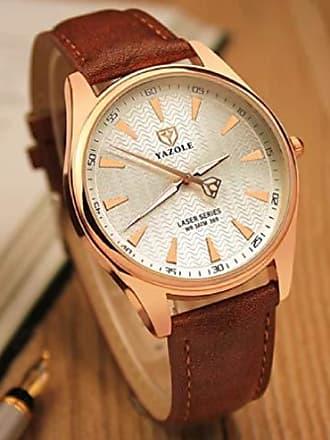 Yazole Relógios de Luxo Masculino Pulseira de Couro Yazole D369 (4)