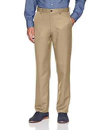 Amazon Essentials Mens Expandable Waist Classic-Fit Flat-Front Dress Pants, Khaki, 29W x 34L