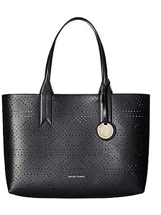 47f55c388 Emporio Armani Perforated Tote (Black/Red) Tote Handbags