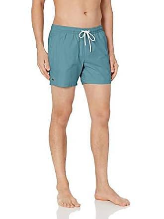 a67bd0d294 Lacoste Mens Solid Swim Short Length, Tide Blue/Aquarium, Small