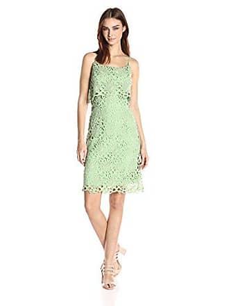 Nanette Lepore Womens Lace Sheath Dress, Light Pistachio, 8