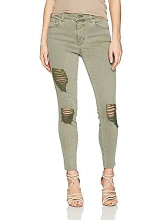 f0bfd67a11 Level 99 Womens Janie High Rise Skinny, Moss Green, 25