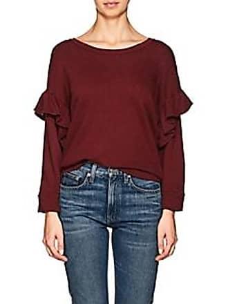 4b1292483a Current Elliott Womens The Ruffle Cotton Sweatshirt - Red Size 2