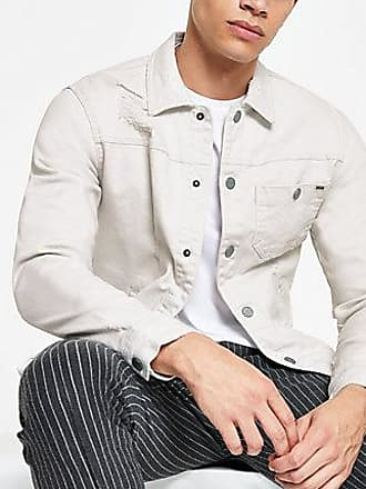 River Island Mens Only and Sons stone trucker denim jacket