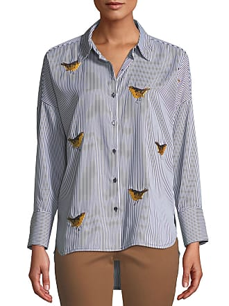 f5f378825a Velvet Heart Mardi Bird-Embroidered Button-Down Blouse