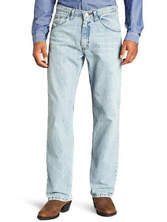 Wrangler Mens Tall 33 Extreme 20X Collection Relaxed Fit Straight Leg Jean, Blue Frost, 33x38