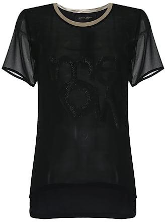 Adriana Degreas Camiseta de seda - Preto