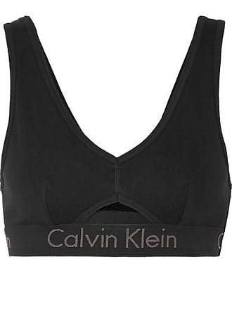 Calvin Klein Underwear Soutien-gorge À Bonnets Souples En Coton Stretch À  Découpe - Noir 37b58cd395e
