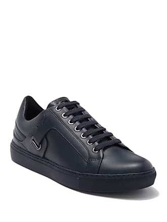 Versace Lace-Up Leather Sneaker