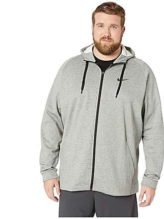 98acb895bfc735 Nike Big Tall Thermal Hoodie Full Zip (Dark Grey Heather Black) Mens  Sweatshirt
