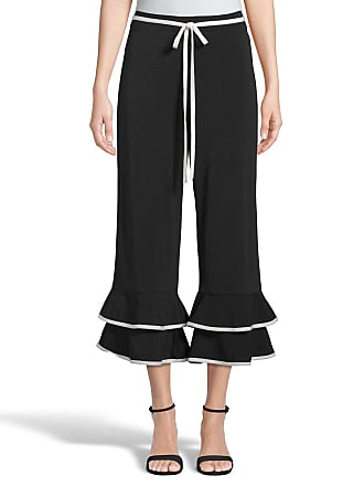 5twelve Ruffle-Hem Cropped Wide-Leg Pants