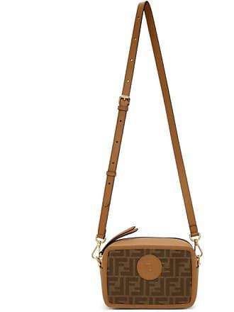 20ef89887f97 Fendi Tan and Brown Small Forever Fendi Camera Bag