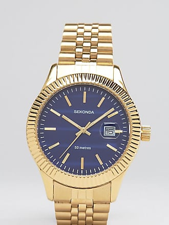 5ffa535484f0 Sekonda Gold Bracelet Watch With Blue Dial Exclusive To ASOS