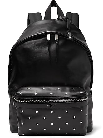 b3a5ff4560e Saint Laurent City Embellished Leather Backpack - Black