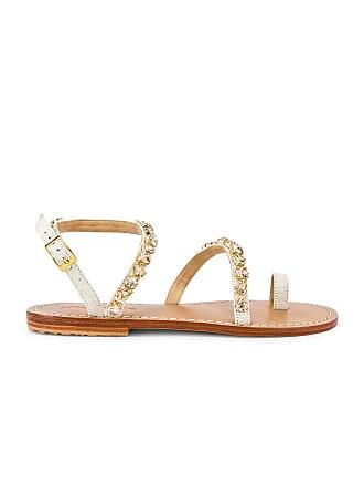 96983d422c61a Mystique Asymmetrical Strap Sandal in Beige. Mystique
