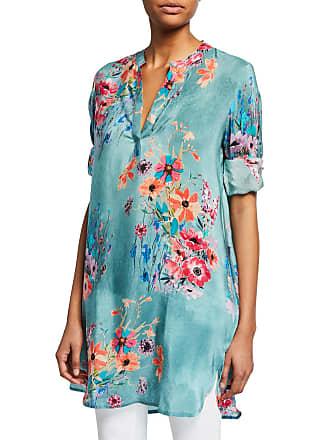 1f8156bb977 Tolani Skylar Floral-Print V-Neck Long-Sleeve Tunic