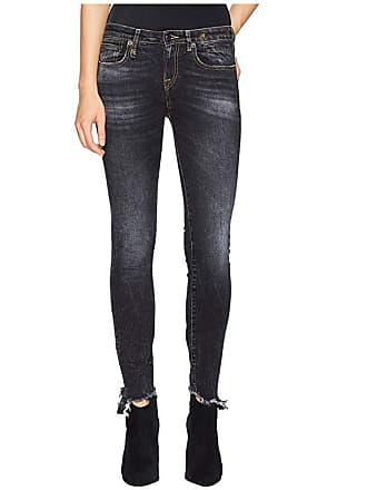 R13 Alison Skinny with Uneven Hem (Tarlton) Womens Jeans