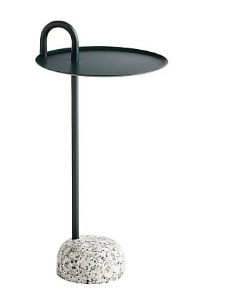HAY Bowler Beistelltisch - tannengrün/Stahl pulverbeschichtet/H 70,5cm/Ø 36cm/Fuß Granit H9cm x Ø19cm