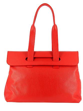 5c3e10713520c DuDu Sac porté épaule pour femme en cuir avec doubles poignées de DUDU Rouge