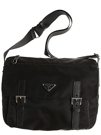 992686cedc12 Prada Messenger Bag for Men, Black, Nylon, 2017, one size