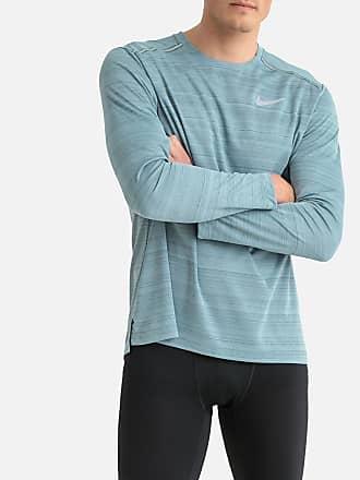 online retailer bec22 a97a9 Nike Dri-FIT-Laufshirt, lange Ärmel - BLAU - NIKE