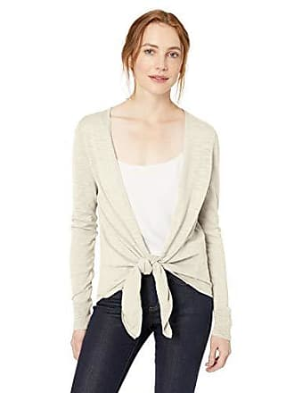 Daily Ritual Womens Lightweight Tie-Front Cardigan, Beige, XX-Large