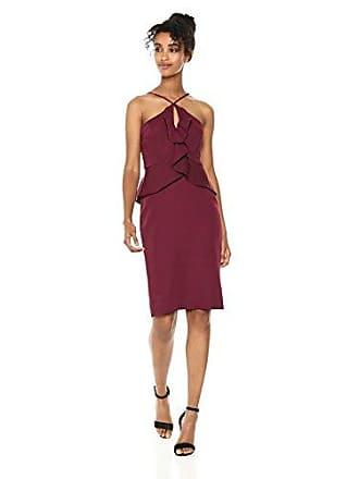 Bcbgmaxazria BCBGMax Azria Womens Sleeveless Halter Peplum Dress, Venetian Rose 0