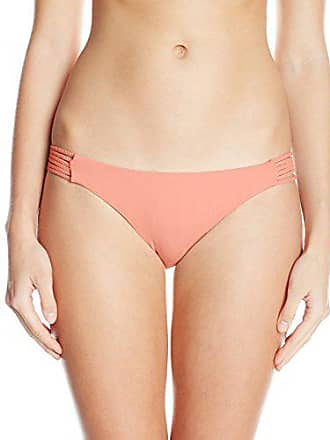 1aba487067 Quintsoul Womens Braided Low-Rise Bikini Bottom with Cinching, Light Coral,  Small