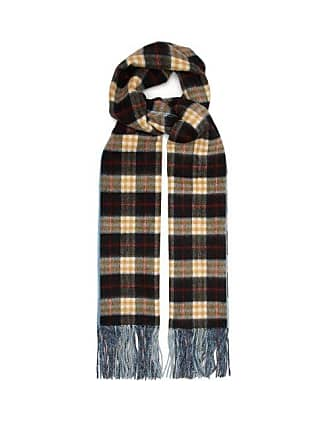Burberry Vintage Check Cashmere Scarf - Womens - Blue