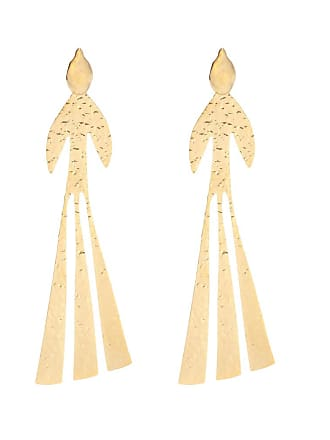 J.W.Anderson Hammered Bird gold-plated earrings