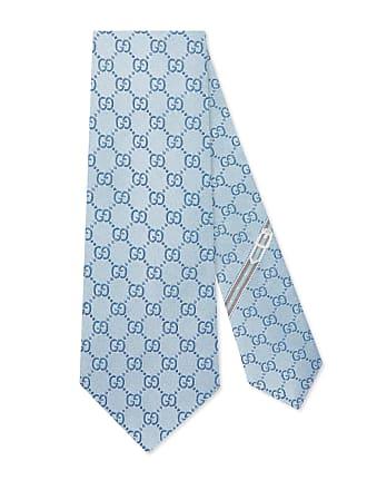 Gucci Cravatta in seta con motivo GG 4fe486d8f5b5