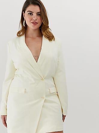 Unique21 Hero Unique21 Hero tux blazer dress with gold buttons - Cream