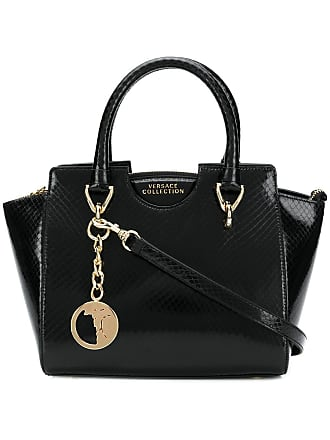 7b30066f68 Versace Collection textured leather tote bag - Black