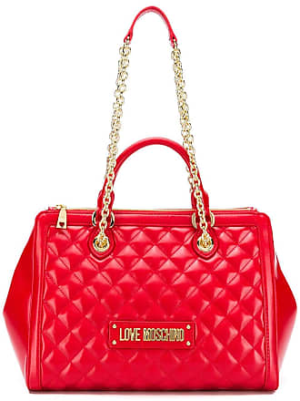 Love Moschino quilted tote bag - Vermelho