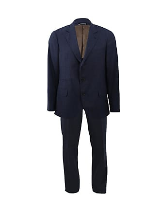 Brunello Cucinelli Wool Solid Notch Suit